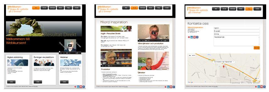 1 Skapa websida på 2 tim - bild 1-3