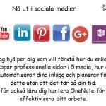 Sociala medier o OneNote