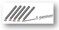 5 pennor