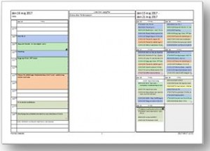Planering utskrift folder