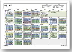 Planering utskrift månad