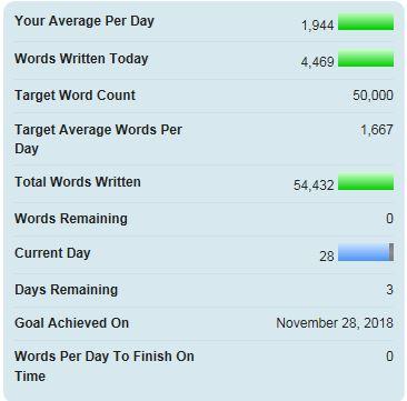 Nanowrimo - över 50000 ord