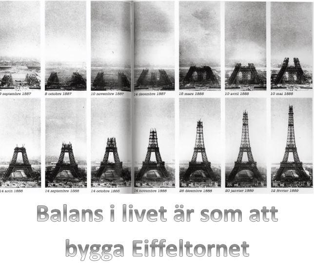Balans är som Eiffeltornet
