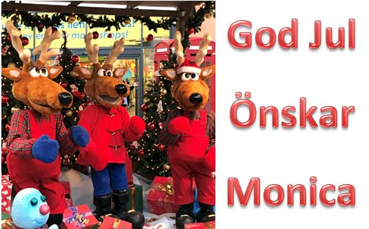 God Jul önskar Monica