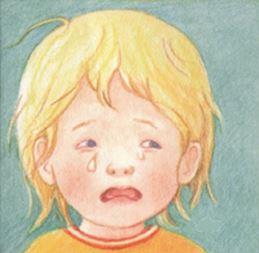 Barn ledsen