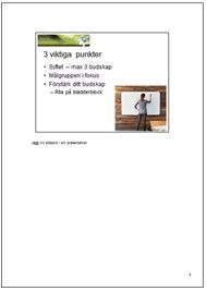 Professionell presentation 3 manus