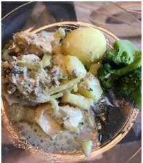 Torsk med broccoli, fänkål och pesto