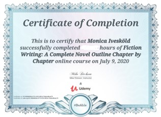 Certifikat Fiction Writing