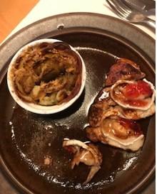 Kyckling med getost och potatisrosor